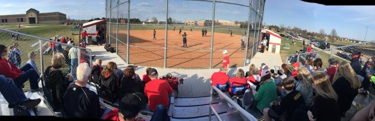 4-24-18 Softball stands